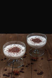 Vanilla panna cotta Royalty Free Stock Photo
