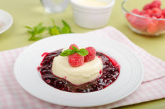 Vanilla panna cotta Stock Photography
