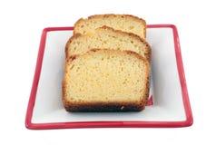 Vanilla pound cake Stock Image
