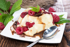 Vanilla Pudding with Berries Royalty Free Stock Image