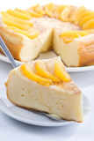 Vanilla pudding pie Royalty Free Stock Photo