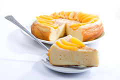 Vanilla pudding pie Stock Photo
