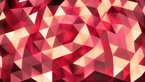 Vanilla - red abstract background of shinning triangles - low poly, seamless loop. Abstract background of moving shinning triangles (low poly) seamless loop stock video footage