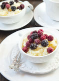 Vanilla Rice Pudding with Berries Royalty Free Stock Image