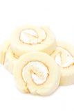 Vanilla Roll Cake. Stock Photo