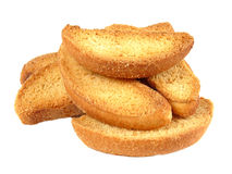 Vanilla rusks isolated on a white Royalty Free Stock Image