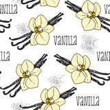 Vanilla seamless background Royalty Free Stock Photo