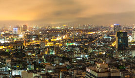Vanilla sky and buildings in Bangkok Stock Photo