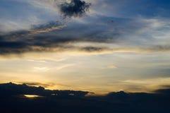 Vanilla Sky. Evening View When Sunset As Vanilla Sky Stock Images