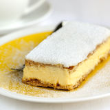 Vanilla Slice. Or mille feuille pastry Stock Photo