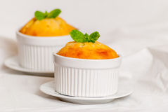 Vanilla souffle or cupcake Stock Photography
