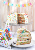 Vanilla Sprinkles Cake. Stock Images