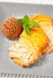 Vanilla Spritz cookies with ice cream Royalty Free Stock Photography