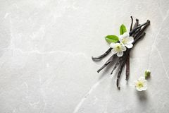 Free Vanilla Sticks And Flowers Royalty Free Stock Images - 115050569