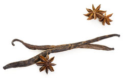 Vanilla sticks and Star Anise Stock Images