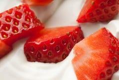 Vanilla strawberry Stock Images