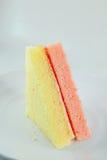 Vanilla and strawberry chiffon cake flavor Stock Photo