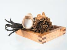 Vanilla sugar royalty free stock images