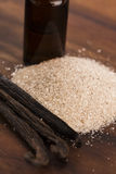 Vanilla sugar and beans Stock Image