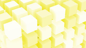 Vanilla Sugar Cubes Background. Background yellow vanilla color with geometrically distributed cube boxes Stock Photo