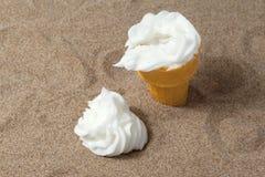 Vanilla sundae in beach Royalty Free Stock Image