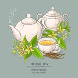 Vanilla tea illustration Royalty Free Stock Photos