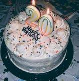 Vanilla. 20th Birthday cake celebrate stock image