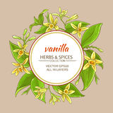 Vanilla vector frame Royalty Free Stock Photos