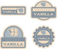 Vanilla Vintage Food Labels Stock Images