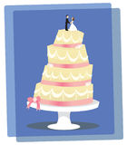Vanilla Wedding Cake Stock Photography