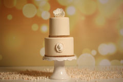 Vanilla wedding cake Stock Photo