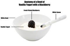 Vanilla yogurt Royalty Free Stock Photo