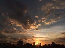 Vanillasky. Evening sundown city Stock Photography