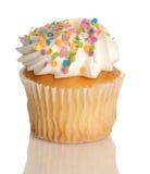 Vanille cupcake Stock Afbeelding