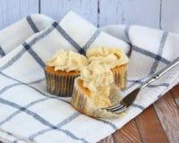 Vanille cupcakes Stock Foto