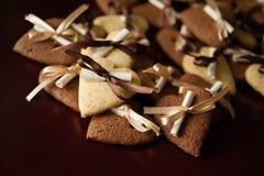 Vanille en chocoladekoekjes Royalty-vrije Stock Foto
