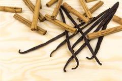 Vanille-kaneel 5 Stock Fotografie