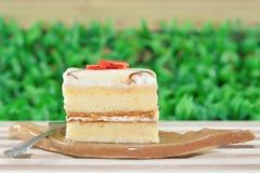 Vanille-Kuchen Lizenzfreies Stockfoto