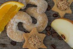 Vanille-op smaak gebrachte toenemende koekjes royalty-vrije stock foto