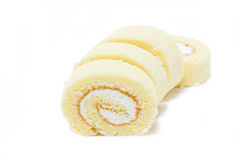 Vanille-Rollenkuchen. Lizenzfreies Stockbild
