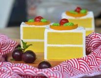 Vanille-Schwamm-Kuchen Stockbild