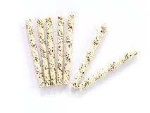 Vanille zeven en chocoladewafeltjebroodjes Royalty-vrije Stock Afbeeldingen