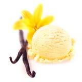 Vanillehülsen mit Eiscreme Lizenzfreie Stockfotografie