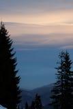 Vanillehemel in de berg Stock Afbeelding