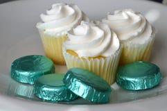 Vanillekleine kuchen Lizenzfreies Stockfoto