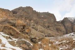 Vanis Kvabebi в Vardzia в зиме, Georgia Стоковые Изображения RF