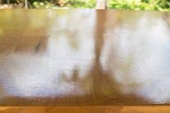 Vanish Brown Hardwood Top Table Royalty Free Stock Image