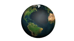 Vanishing Earth. Planet Earth, while rotating, disappears becoming a yellow spheric wire-grid stock footage