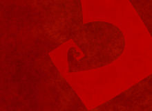 Vanishing perspective of big textured red heart Royalty Free Stock Photos