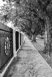 Vanishing point. Example of vanishing point in a long street Stock Image